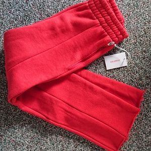 NWT Good American Red High Waist Good Sweats 0 XS